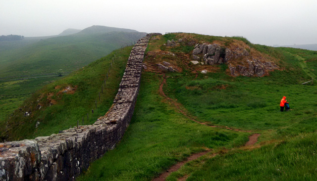 northumberland england pennine way roman fort picts border national trail