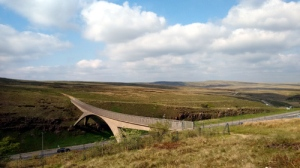 M62 pennine way peak district lancashire moorland motorway