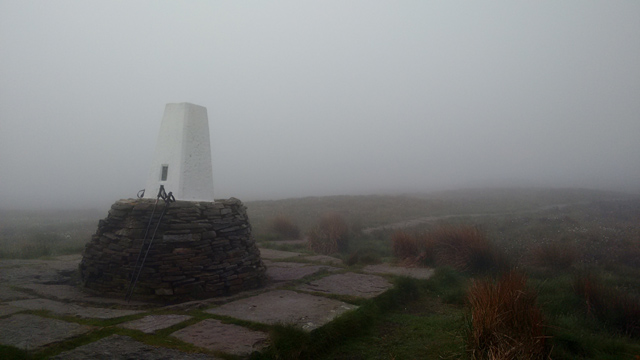 peak district moorland derbyshire england pennine way trig point