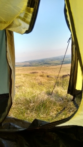 pennine way peak district derbyshire england long distance walking camping tent