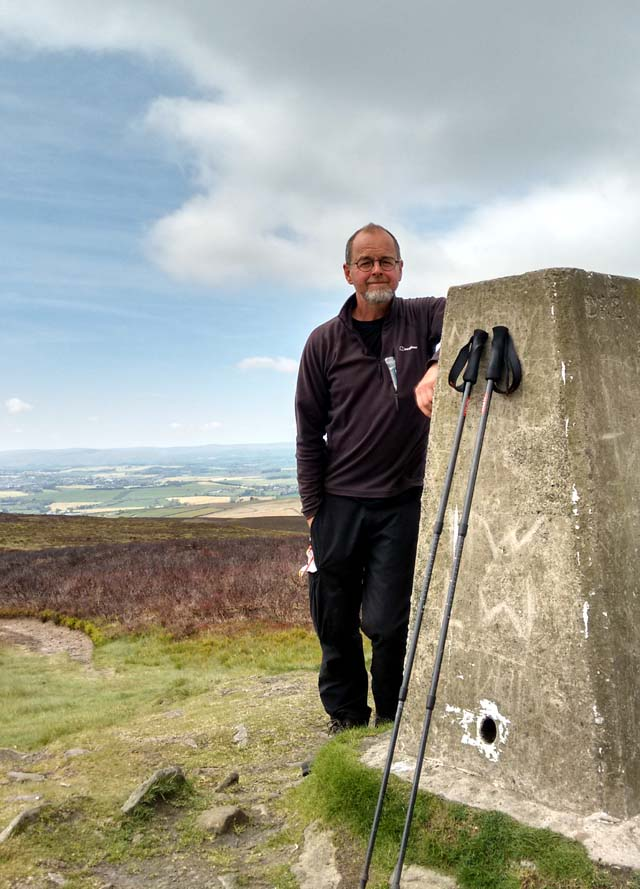 pennine way yorkshire trig point trail path long distance england moorland