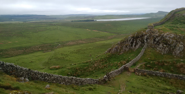 hadrian's wall roman fort ruin long distance national trail england hiking walking