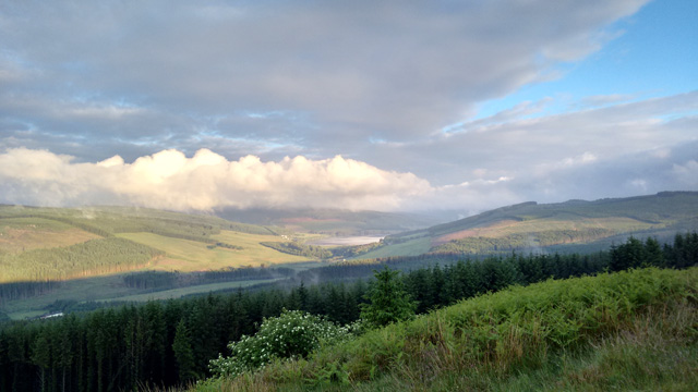 northumberland kielder pennine way cheviot forest view byrness hillwalking trekking