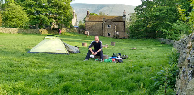 edale pennine way peak district derbyshire england tent campsite