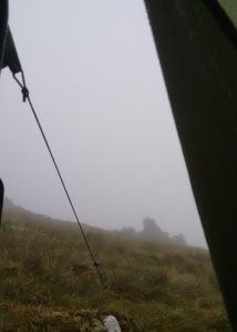 scottish borders hillwalking fellwalking mist fog views tent wild campcamping