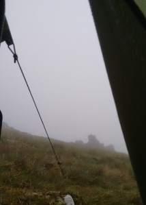 scottish borders hillwalking fellwalking mist fog views tent wild campcamping