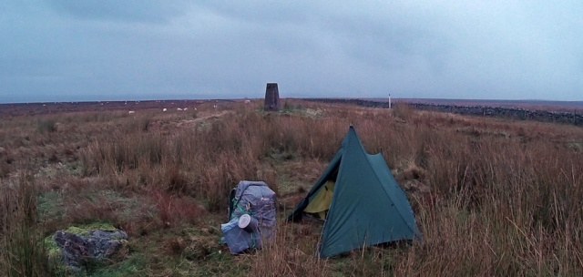 camped above Greenhead Northumberland