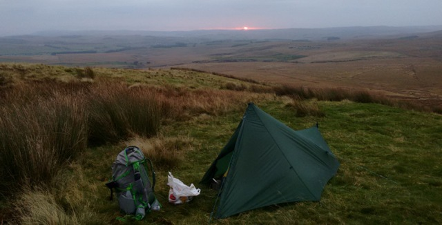 northumberland england camping wild camp trek hike trail trekkertent stealth