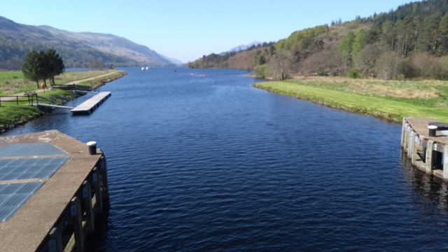 Caledonian Canal heading into Loch Oich on the Great Glen Way