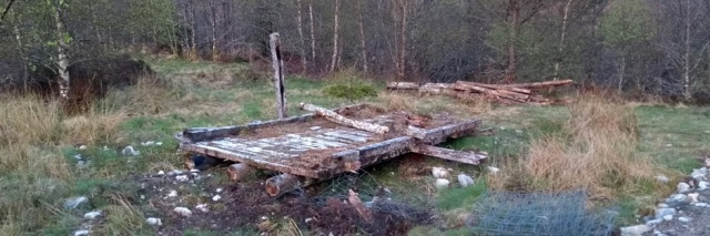 derelict bridge in highlands of scotland