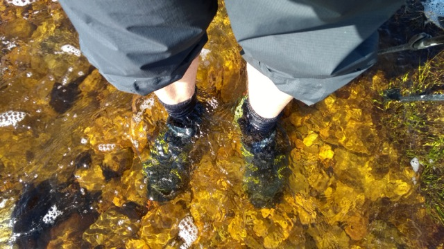 paddling in the garbh allt