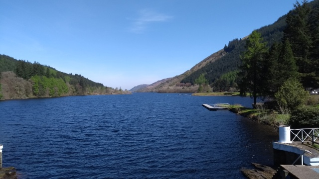 Looking back from Laggan Bridge on the Great Glen Way
