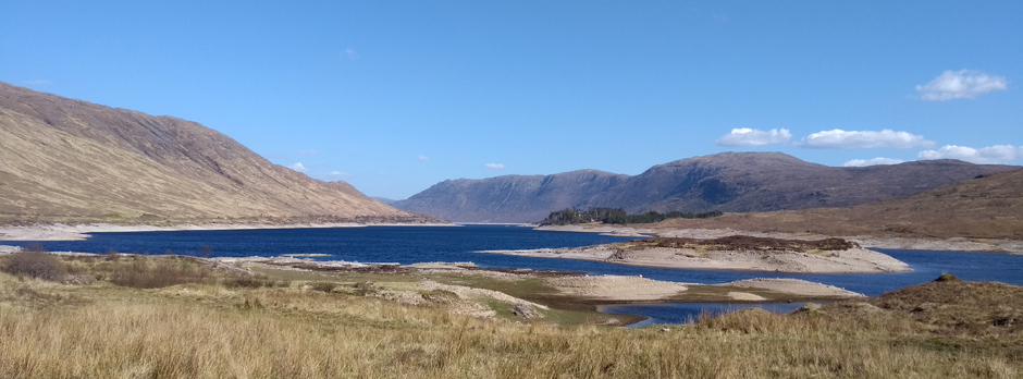 Loch Cluanie in Glen Shiel, Scottish Highlands