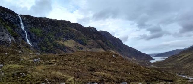waterfall in scottish highlands