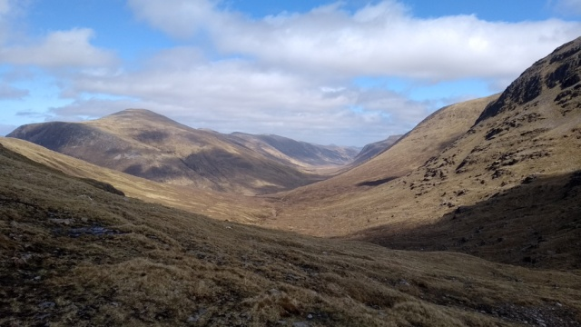 scottish highland view of glens