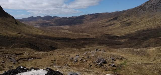 view from bealach bhearnais scotland highlands