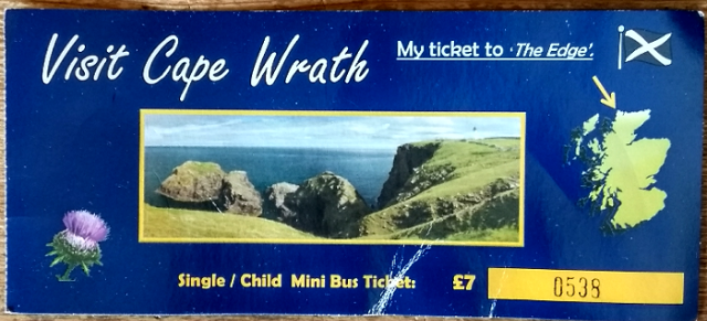 cape wrath bus tocket durness sutherland scotland