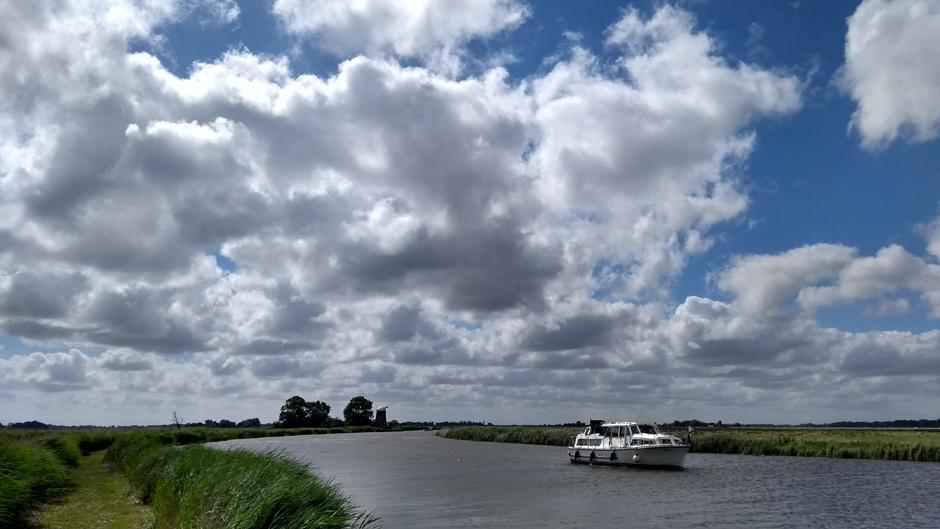 norfolk broads cruiser and river england