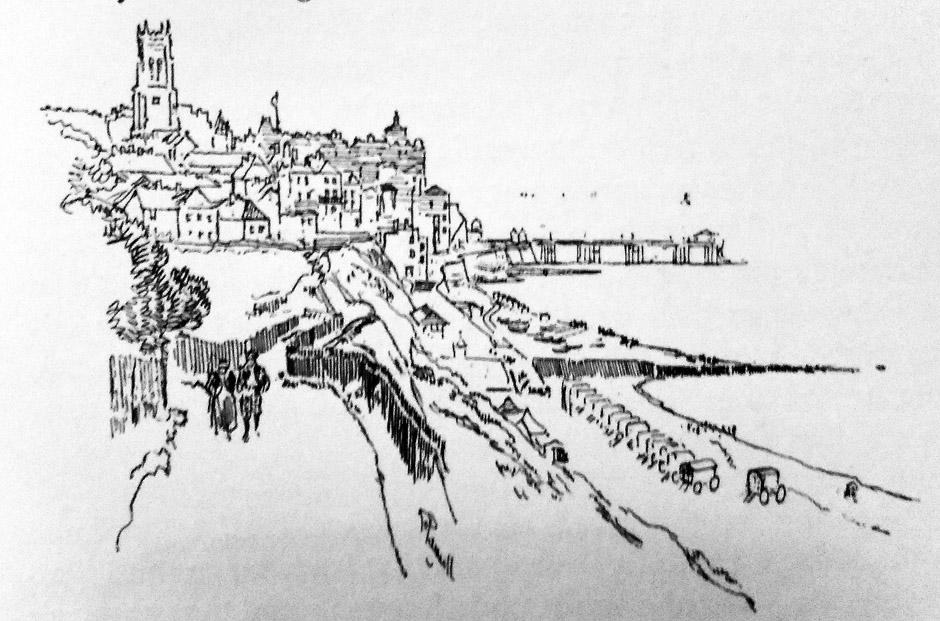 illustration of cromer on north norfolk coast