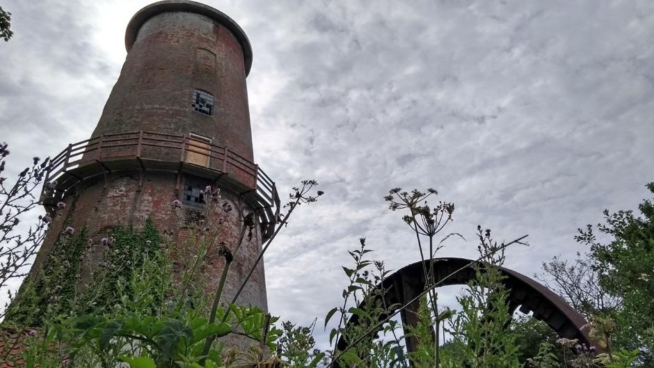 derelict windmill at sutton in norfolk broads