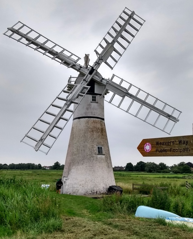 windmill at thrine on the weavers way trail norfolk england