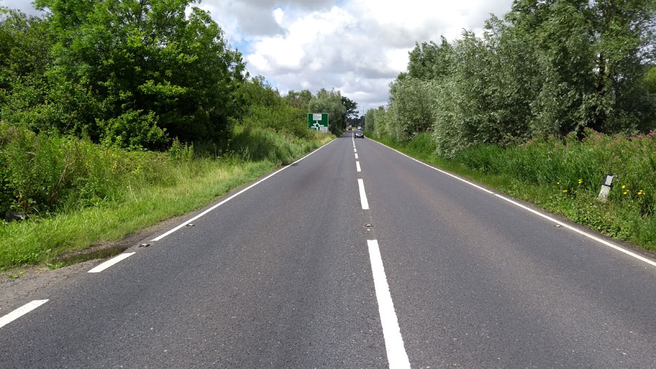 A47 road norfolk england UK
