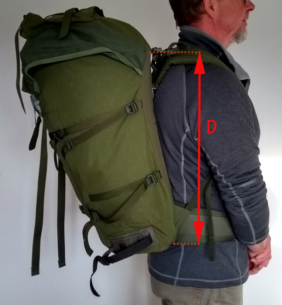 backpack with rigid frame