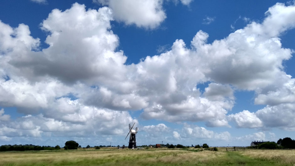 norfolk broads windmill england