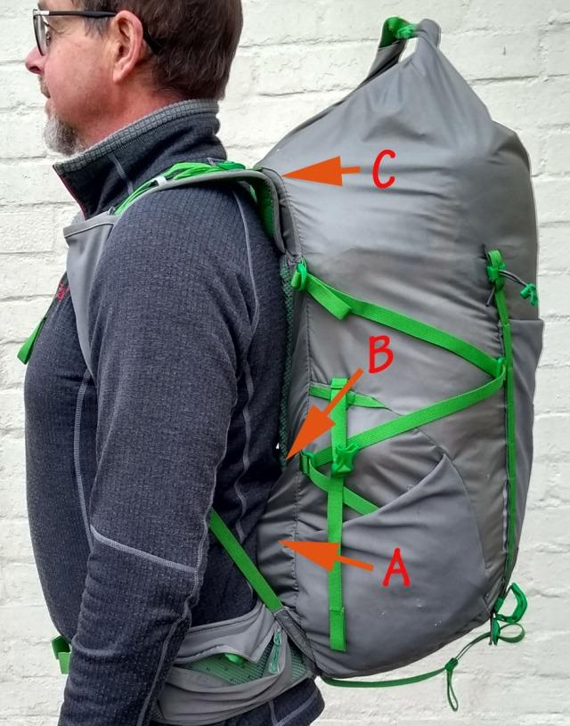 frameless rucksack backpack by Montane