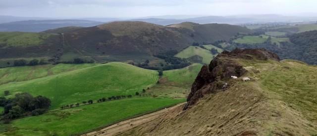 view from caer caradoc shropshire england