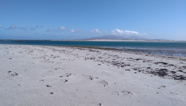 shell beach on benbecula scotland