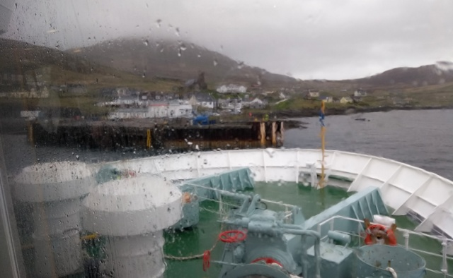 castlebay harbour on Barra Outer hebrides