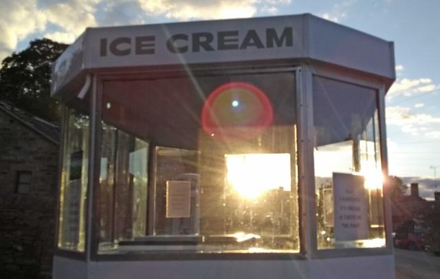 vintage ice cream van at Hawes yorkshire england