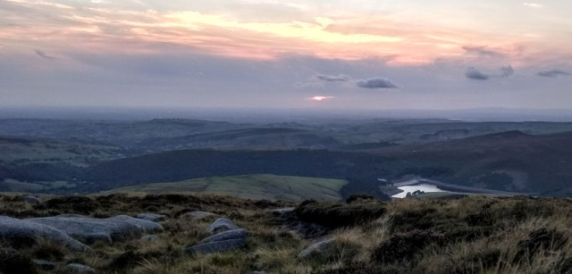sunset kinder peak district