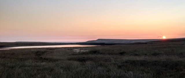 pennine way sunrise marsden england uk
