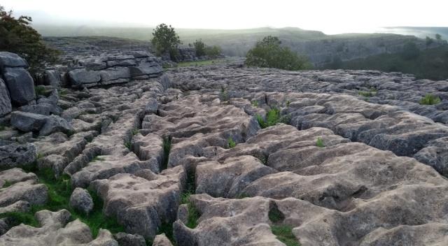 malham cove yorkshire dales england limestone