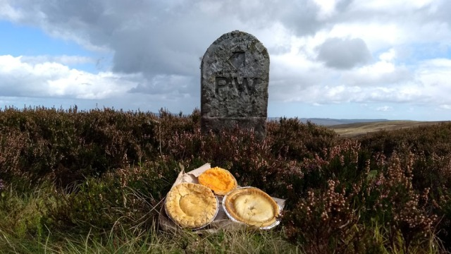 pies ont he pennien way whitley pike northumberland england