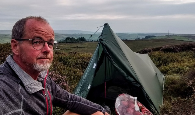 pennine way yprkshire pinhaw beacon wild camp