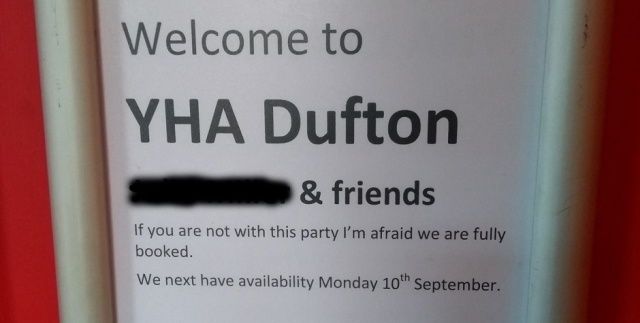 dufton-yha-fully-booked