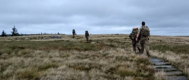 pennine way cheviot northumberland soldiers running