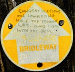 pennine way halfway trail marker