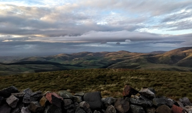 windy gyle bivvy view over cheviot hills