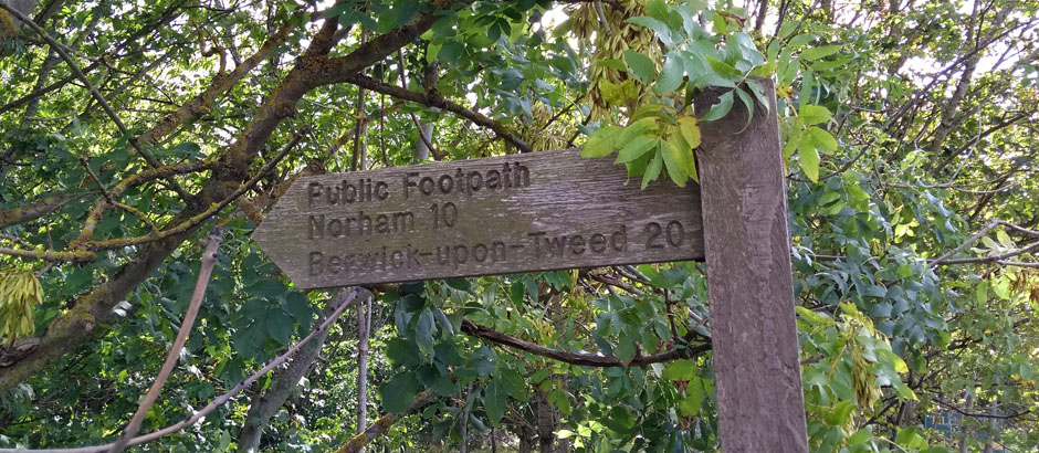 path from coldstream to berwick on tweed
