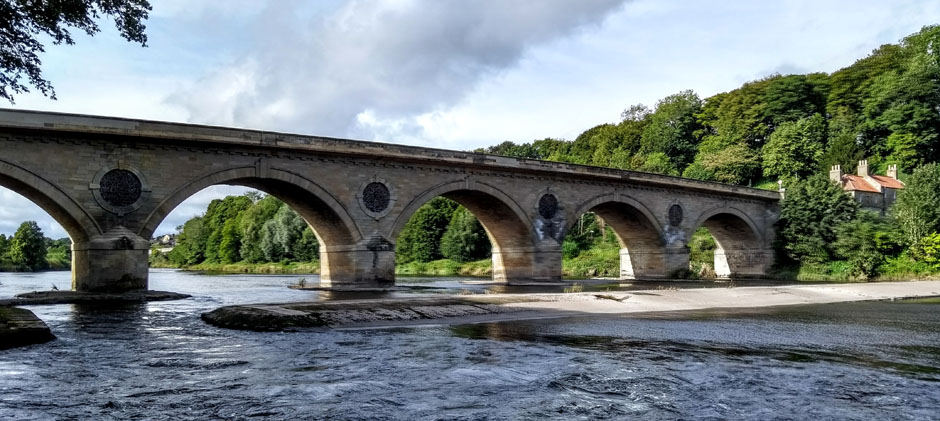 coldstream bridge river tweed scotland england