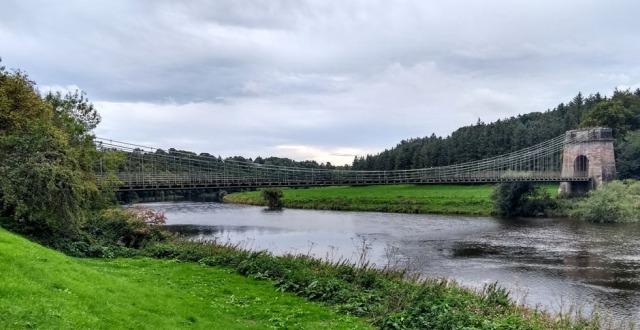union chain bridge river tweed northumberland scotland