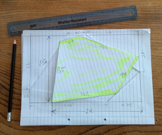 dimensions of a micro tarp for wild bivy camping