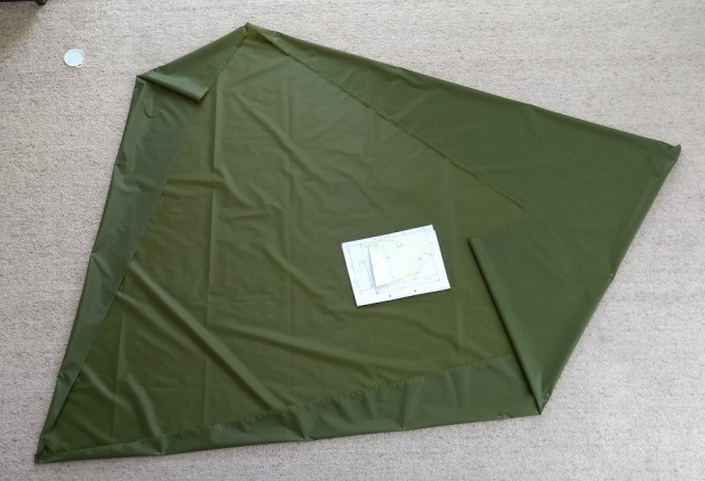 micro tarp bivy head cover fabric silnylon