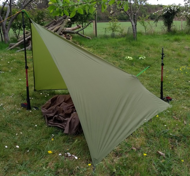 bivvy bag micro tarp home made from silnylon